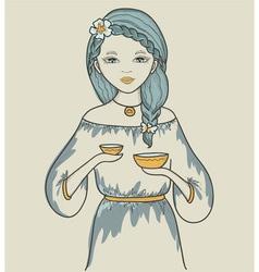 Girls astrological sign libra vector