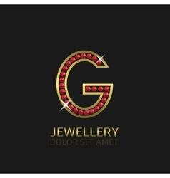Golden Letter G vector image