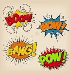 Grunge Cartoon Sound Effects Set 1 vector
