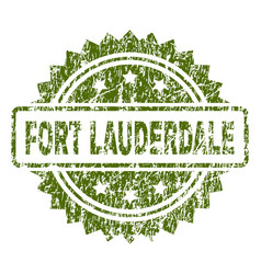 Grunge textured fort lauderdale stamp seal vector