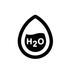 H2o formula icon vector