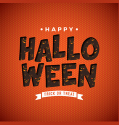 happy halloween with scary vector image