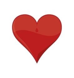 Heart red love design vector