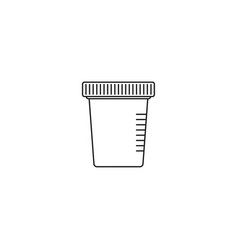 Icon for urine test vector