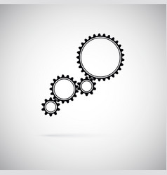 icon of gears gears symbol of team work flat style vector image