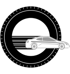 Icon with a car-2 vector