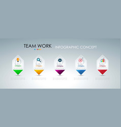 info graphic teamwork business concept vector image