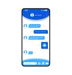 Instant messaging app smartphone interface vector