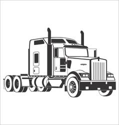 Kenworth semi truck vector