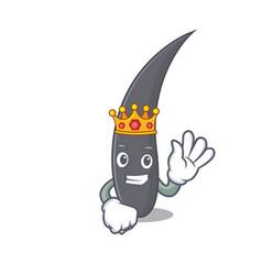 king hair mascot cartoon style vector image