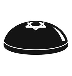 kippah icon simple style vector image