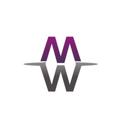 letter w m vector image
