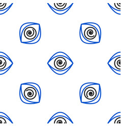 Line hypnosis icon isolated seamless pattern on vector