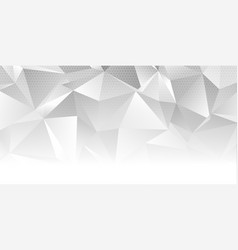 Low poly abstract banner design vector