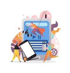 modern gadgets concept for web banner vector image