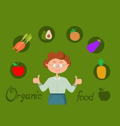 organic food healthy vector image
