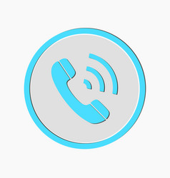 phone call icon style is flat rounded vector image