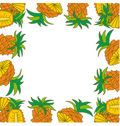 pineapple frame empty template vector image