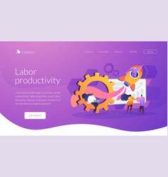 Productivity landing page concept vector