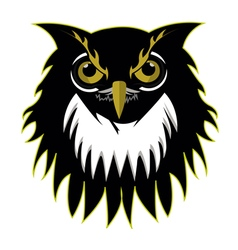 Retro owl logo basketball team vector image