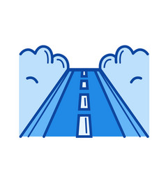 road line icon vector image