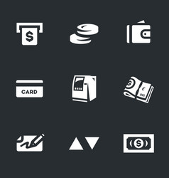 set of atm cash icons vector image