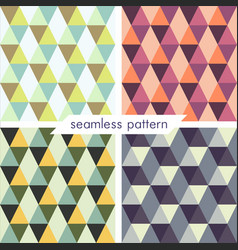 Set of four seamless geometrical patterns 17 vector