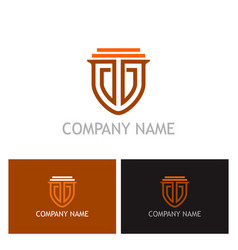 Shield guarantee secure logo vector