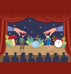 Simple theater puppet show vector