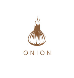 simple with onion vegetable vector image