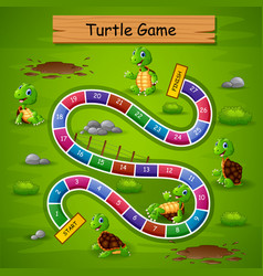 snakes ladders game turtle theme vector image