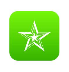 Star icon digital green vector