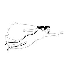Superwoman cartoon character sketch vector