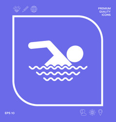swim icon symbol graphic elements for your design vector image