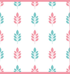 symmetrical seamless floral pattern with blue and vector image