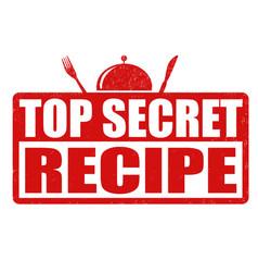 Top secret recipe grunge rubber stamp vector