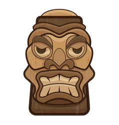 Totem idol icon cartoon style vector