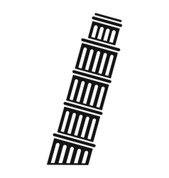 Tower of pisa icon simple style vector