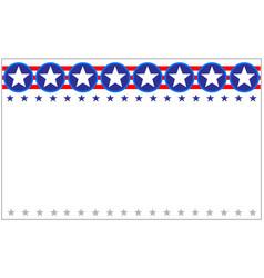 us flag star patriotic festive border banner vector image