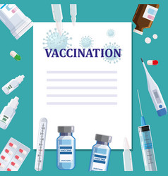 vaccination poster template concept text place vector image