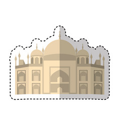 vatican cathedral isolated icon vector image