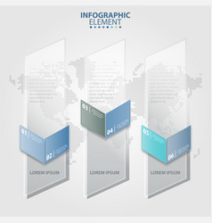 Vertical transparent banner business infographic vector