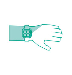 Watch hand technology vector