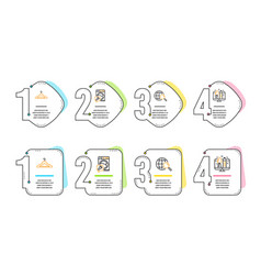 Web search washing machine and cloakroom icons vector