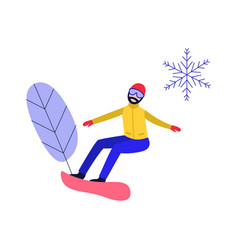 winter sport and active leisure concept with young vector image