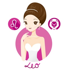 Woman With Leo Zodiac Sign vector image