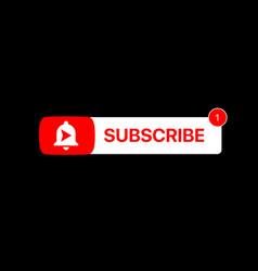 Youtube subscribe button subscribe title social vector