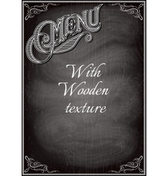 black chalkboard with a with wood texture vector image