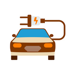 Electric car icon energy label for web on white vector