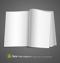 open white book vector image